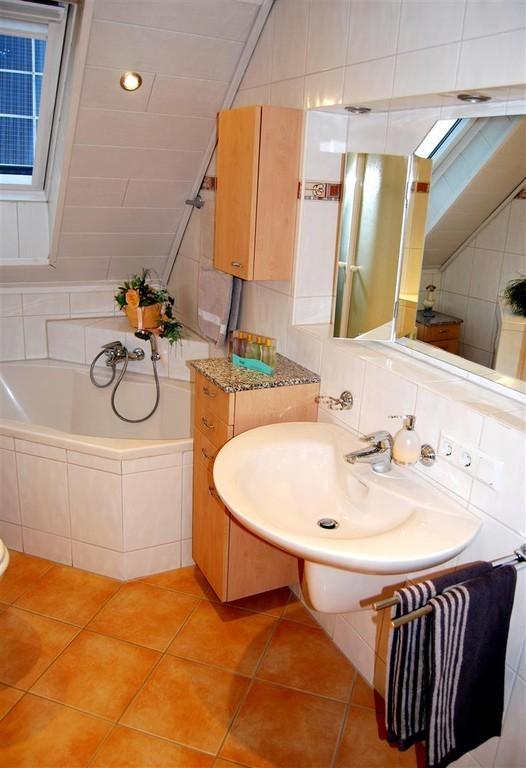 Klein aber fein: das Badezimmer.